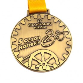 Factory making cheap antique brass Russia sports metal custom medals