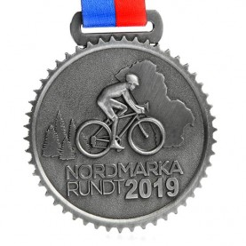 Custom antique silver 3d cycling competition race metal sports medals
