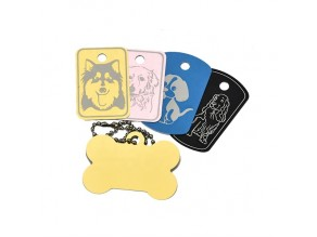 OEM Top Selling Sublimation Custom Metal Pet ID Tags Dog Tag